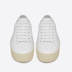 Saint Laurent platform white sneaker